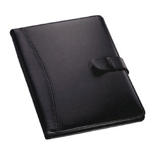 Assorted PU Leather Conference Folder Personal Organiser Travel Wallet (Black)